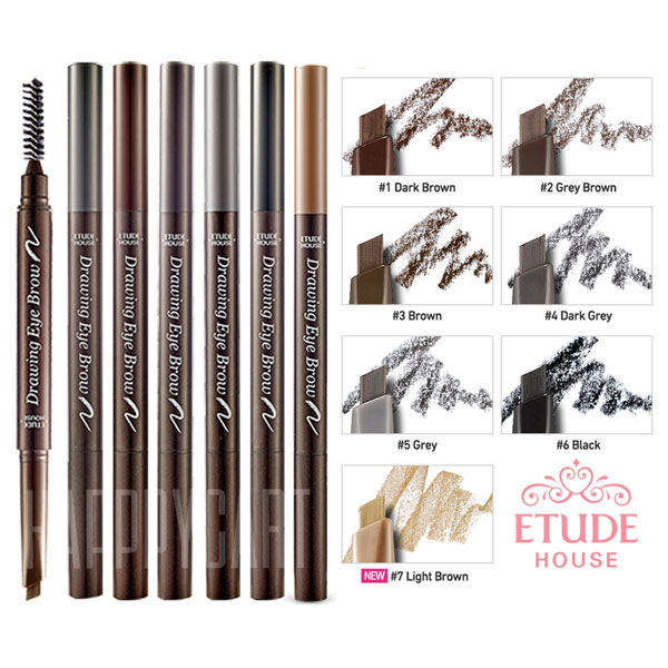 Etude House Drawing Eye Brow Natural Look Eyebrow Pencil Brush